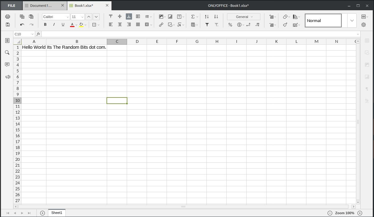 Spreadsheet <>