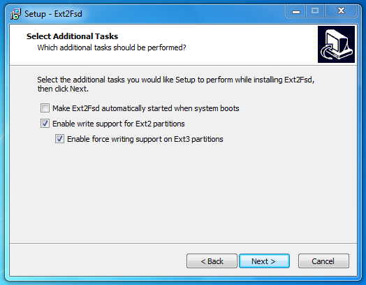 How to mount Linux partition in Windows